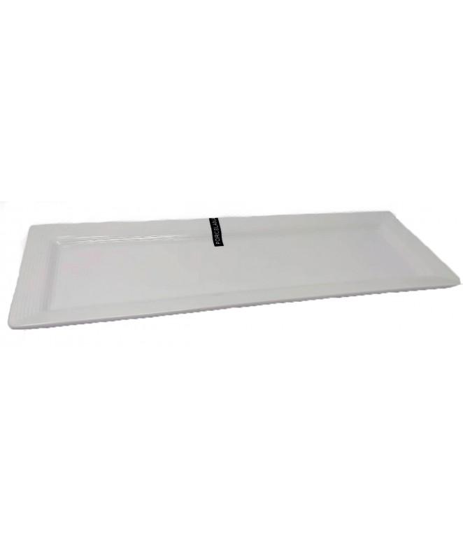 Fuente rectangular 40x14cm aprox - PORCELANA BLANCA