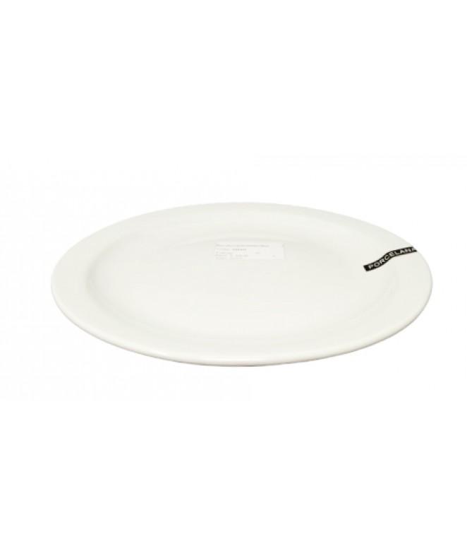 Plato playo gastronómico 24cm aprox - PORCELANA BLANCA