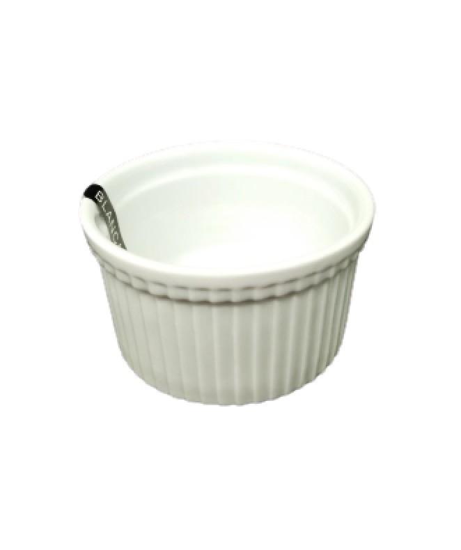 Molde souflé 9cm aprox - PORCELANA BLANCA