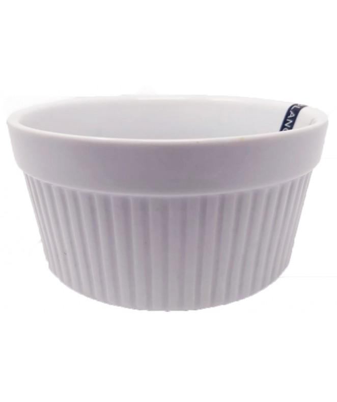 Molde souflé 12cm aprox - PORCELANA BLANCA
