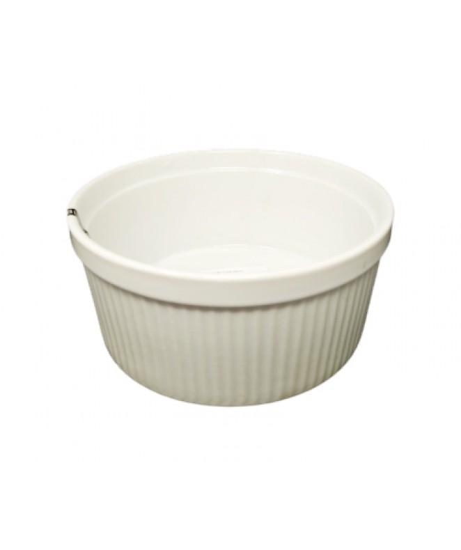 Molde souflé 17cm aprox - PORCELANA BLANCA
