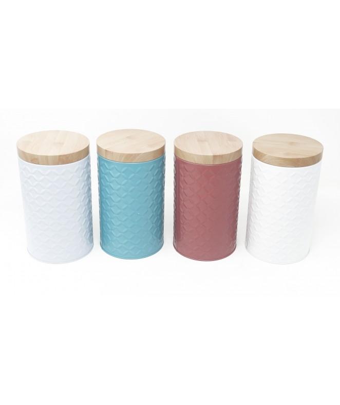 Lata red c/relieve tapa de madera y visor 11x19cm - UNIDAD