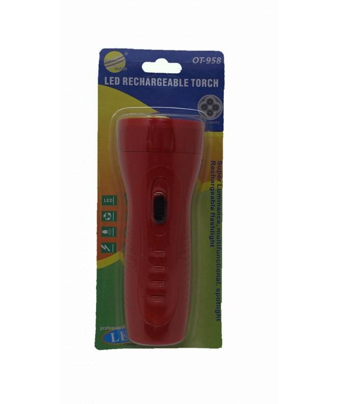 Linterna recargable -4 LEDS -