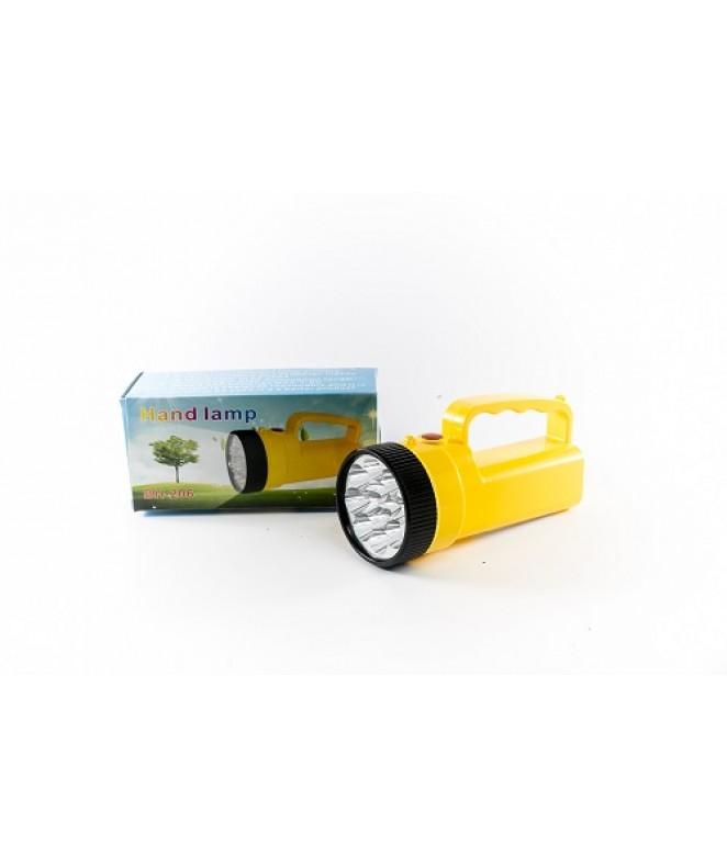 Linterna 9+12 Leds. 16cm. 4 pilas AA (no incluídas -