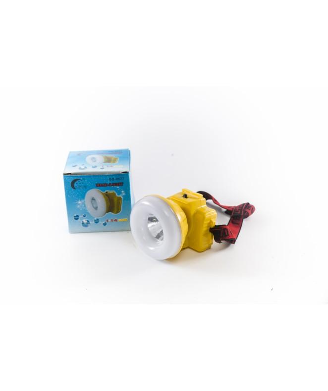 Linterna p/cabeza. 1 Led central. 6x7cm.3 pilas AA -