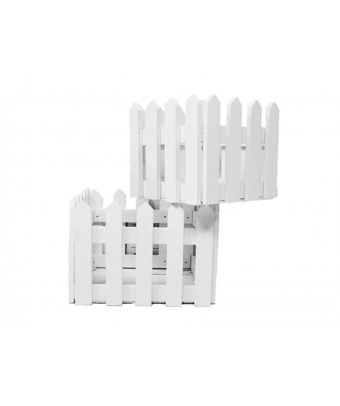 Set x 2 cercas de madera 15.5x10cm + 13x8.5cm apr - MADERA