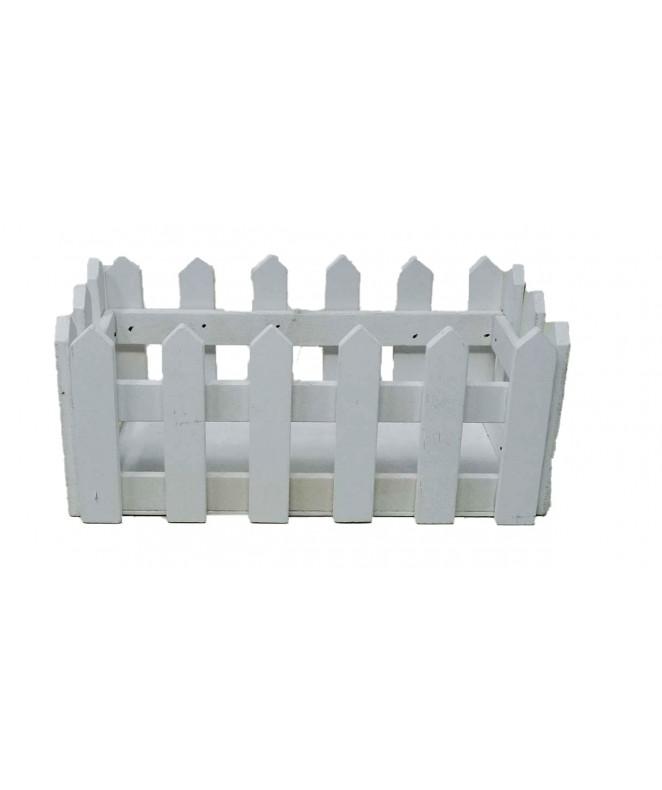 Cerca rectangular de madera  21x11x9cm aprox - ADORNOS