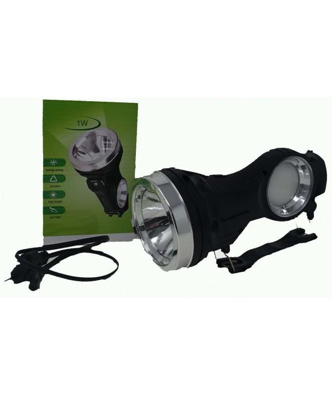 Linterna recargable y solar c/ manija 1 luz centra -