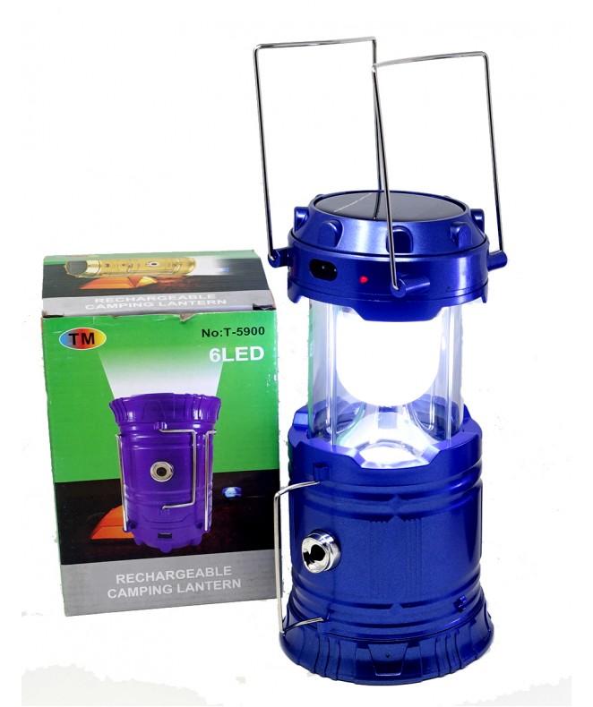 Farol recargable c/ lámpara + luz central y latera -