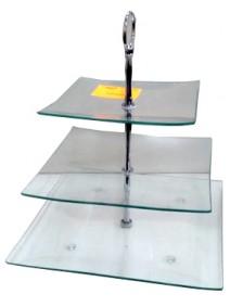 Posa masas de vidrio c/ 3 niv de 15.20 y 25cm ap. - VIDRIO