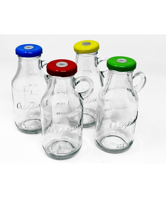 Botella c/manija s/sorbete 200cc aprox - DISPENSER Y FRASQUITOS