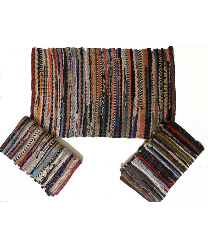 Alfombra multicolor gruesa 40x60cm aprox - ALFOMBRAS-