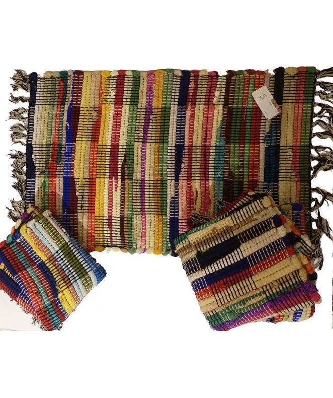 Alfombra multicolor c/rollitos horizontal 50x80cm - ALFOMBRAS-