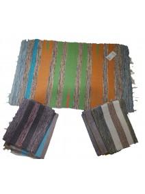 Alfombra c/ líneas horizontales multicolor 60x90cm - ALFOMBRAS-