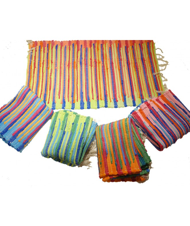 Alfombra multicolor estilo degrade c/ flecos 50x80 - ALFOMBRAS-