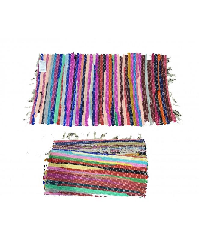 Alfombra multicolor c/ flecos 50x80cm aprox - ALFOMBRAS-