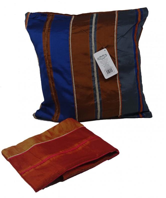 Cubre almohadon c/ lin verticales y cierre 40x40cm - FUNDAS DE ALMOHADONES-