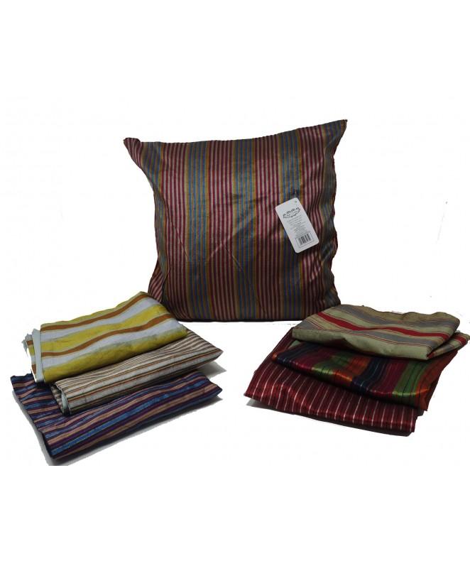Cubre almohadon multicolor c/ lin y cierre 40x40cm - FUNDAS DE ALMOHADONES-