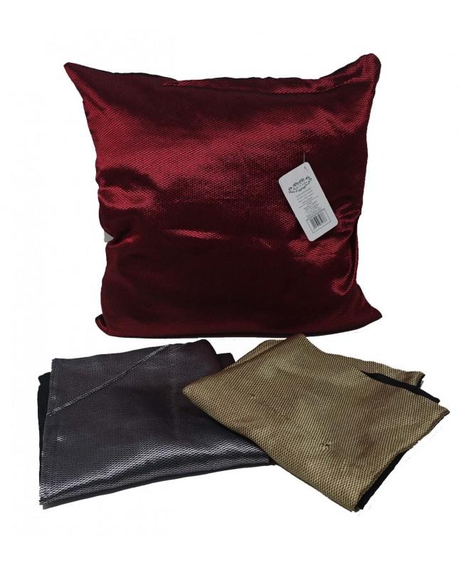 Cubre almohadon bi color c/ cierre 40x40cm aprox - FUNDAS DE ALMOHADONES-