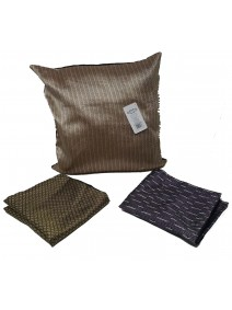 Cubre almohadon c/ lineas y cierre 40x40cm aprox - TEXTIL