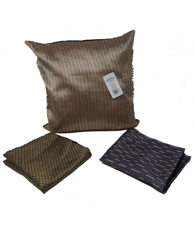 Cubre almohadon c/ lineas y cierre 40x40cm aprox - FUNDAS DE ALMOHADONES-