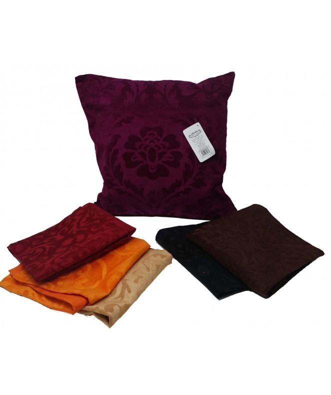 Cubre almohadon c/ formas. plush y cierre 40x40cm - FUNDAS DE ALMOHADONES-