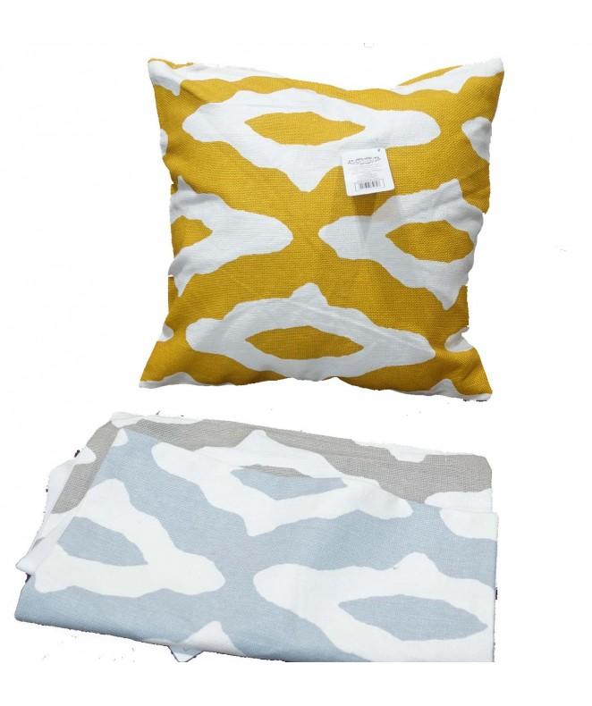 Cubre almohadon c/ lineas irregu y cierre 40x40cm - FUNDAS DE ALMOHADONES-