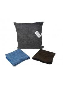 Cubre almohadon liso c/ cierre 40x40cm aprox - TEXTIL