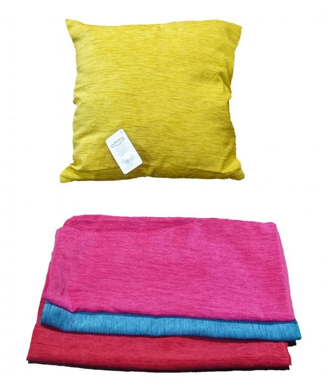 Cubre almohadon liso c/ cierre 40x40cm aprox - FUNDAS DE ALMOHADONES-