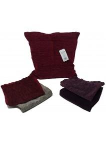 Cubre almohadon rugoso c/ cierre 40x40cm aprox - TEXTIL