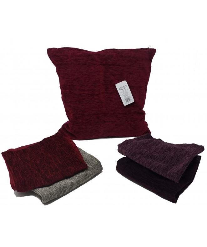 Cubre almohadon rugoso c/ cierre 40x40cm aprox - FUNDAS DE ALMOHADONES-