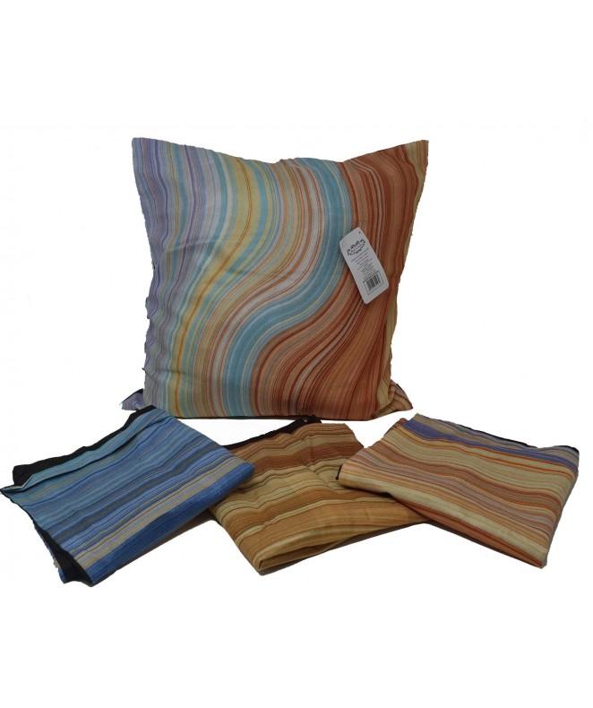 Cubre almohadon c/ ondas y cierre 40x40cm aprox - FUNDAS DE ALMOHADONES-