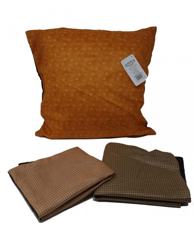 Cubre almohadon c/ caudraditos y cierre 40x40cm ap - FUNDAS DE ALMOHADONES-