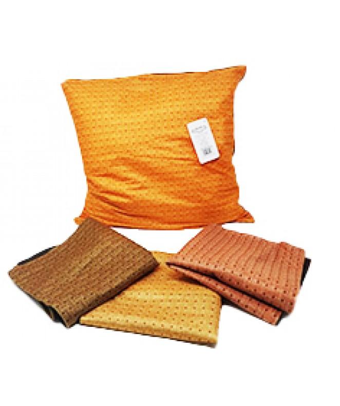 Cubre almohadon c/cuad entrelazados y cierre 40x40 - FUNDAS DE ALMOHADONES-