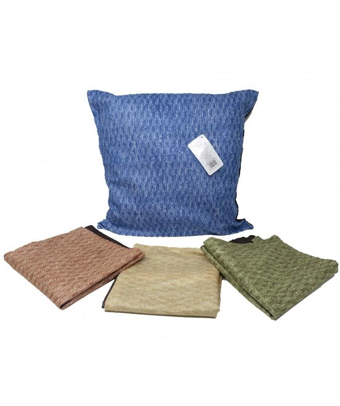 Cubre almohadon c/tiras entrelazadas y cie 40x40cm - FUNDAS DE ALMOHADONES-