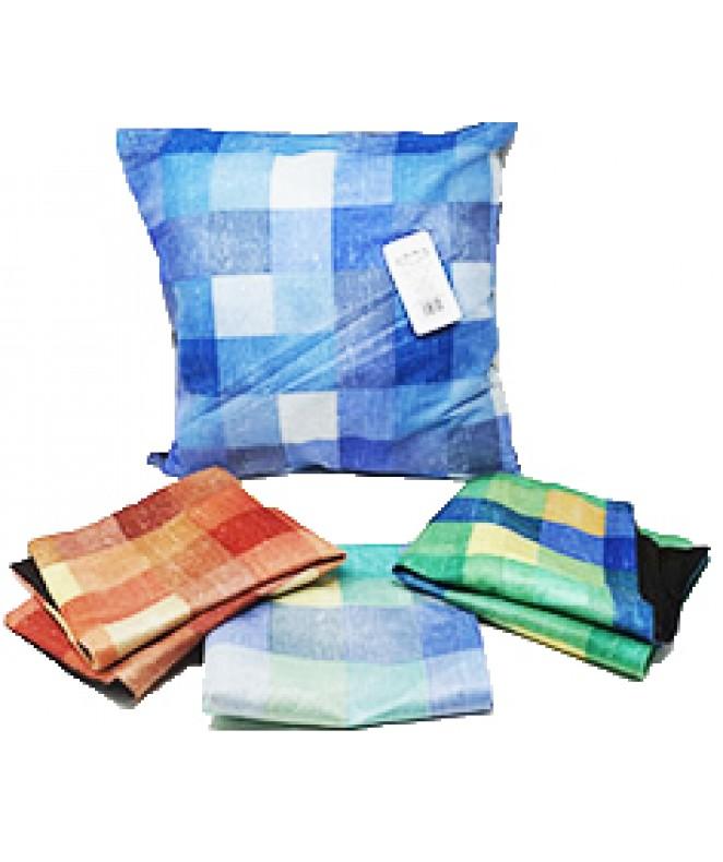 Cubre almohadon multicolor c/ cierre 40x40cm aprox - FUNDAS DE ALMOHADONES-