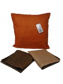 Cubre almohadon c/ gotas y cierre 40x40cm aprox - TEXTIL