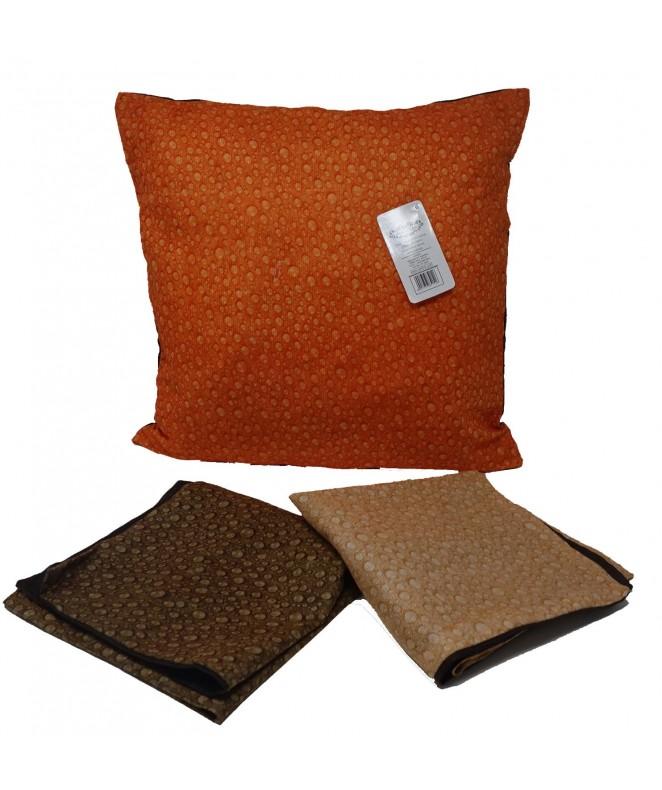 Cubre almohadon c/ gotas y cierre 40x40cm aprox - FUNDAS DE ALMOHADONES-