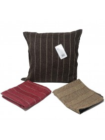 Cubre almohadon entrelazado c/lineas y cierre 40cm - TEXTIL