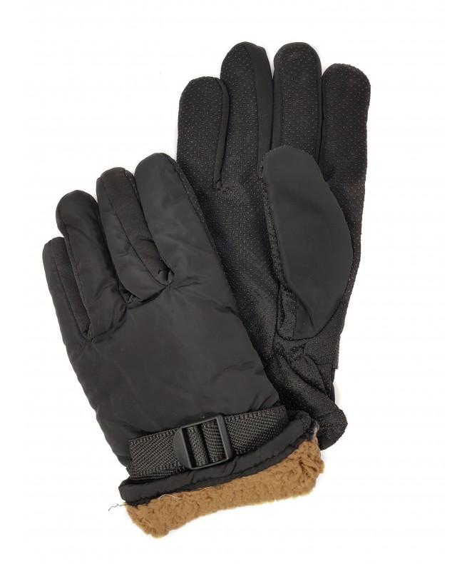 Guantes de ski ajustables c/antidesl- negro- 100% - GUANTES