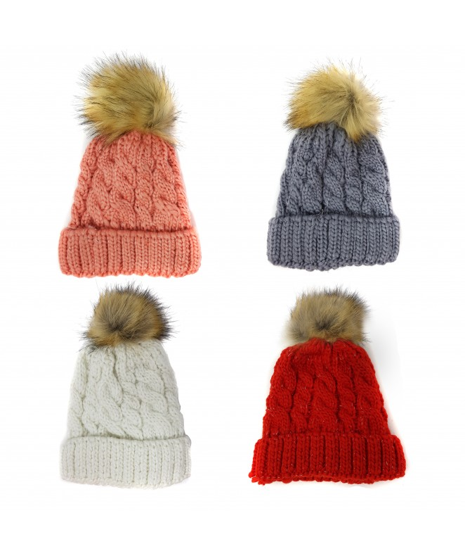 Gorro brillo pompon - 4 colores surt - 100g/pc - GORROS-