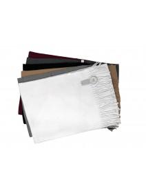Bufanda lisa c/flecos 190x30cm ap - 6 colores surt - INVIERNO
