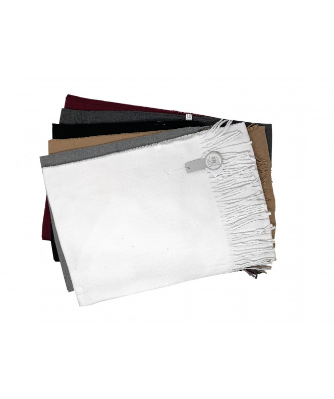 Bufanda lisa c/flecos 190x30cm ap - 6 colores surt - BUFANDAS