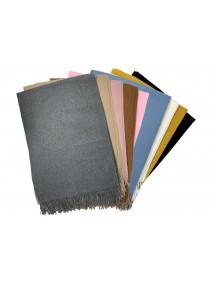 Bufanda lisa c/flecos 180x70cm ap - 6 colores surt - INVIERNO