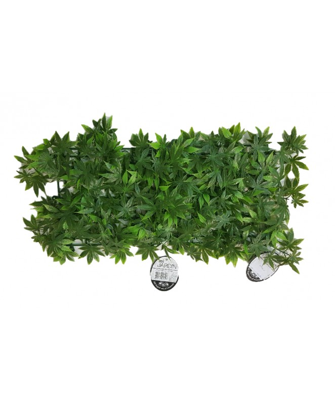 Hojas artificiales p/jardin vertical 25*25cm VERDE - 50 X 50