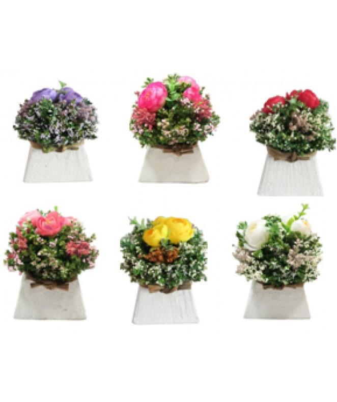 Arreglo floral DEL JARDIN 13cm ap- en maceta piram - MACETAS CON FLORES