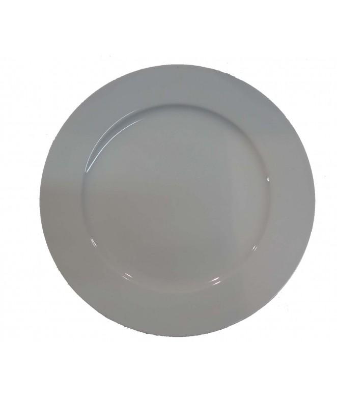 Plato playo DELTA 28cm ap porcelana bca - PORCELANA BLANCA