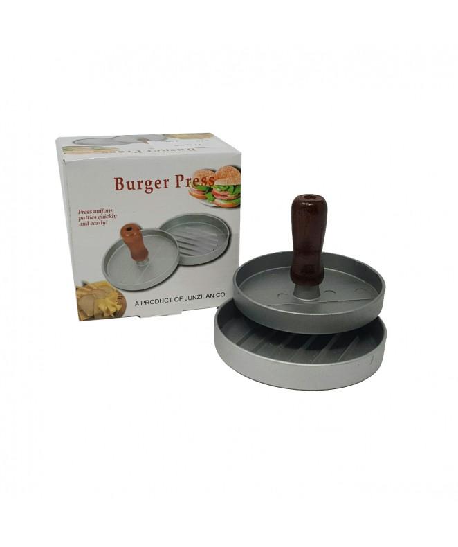 Molde p/hamburguesas c/manija madera - 10cm diám a - HERRAMIENTAS DE COCINA
