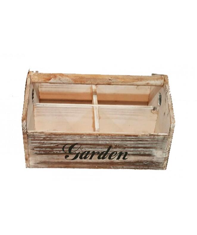 Cajón con manija y 4 divisiones .Garden. - 26x15cm - RECIPIENTES