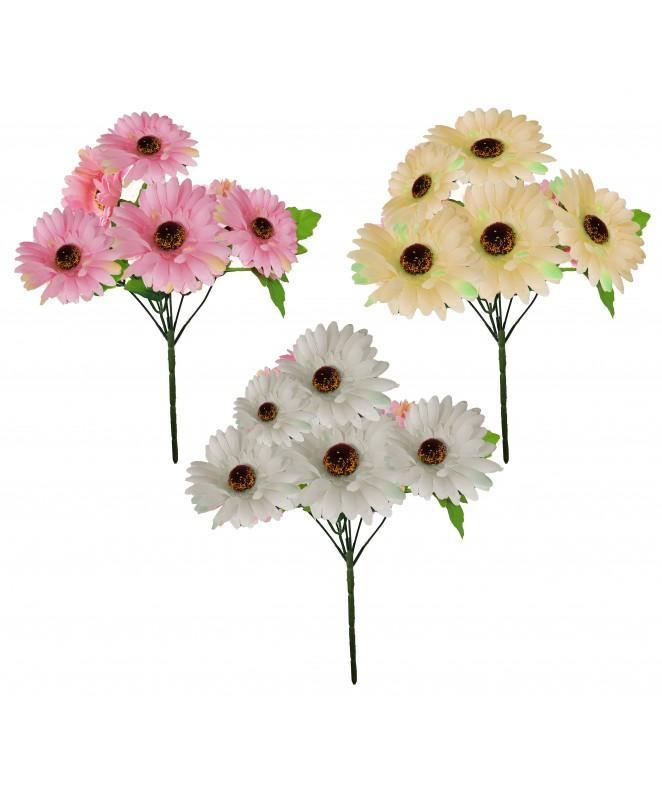 Bouquet de 6 margaritas - 28cm aprox - BOUQUET